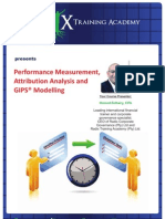 Performance Measurement, Attribution Analysis and GIPS Modelling Course