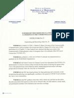 Revised Order Regarding Gatherings in Massachusetts