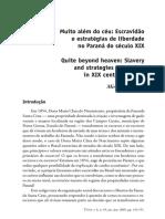 3º - Escravidao e estrategias de liberdade - Paraná XIX