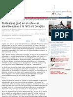 Ponteareas ganó en un año cien escolares pese a la falta de colegios