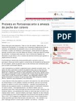 Protesta en Ponteareas ante a ameaza de peche dun colexio