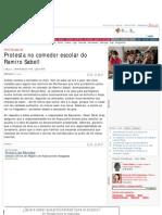 Protesta no comedor escolar do Ramiro Sabell