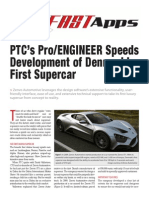 PTC's Pro/Engineer Speeds Development of Denmark's First Supercar
