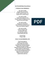 Puisi Patriotik Bulan Kemerdekaan