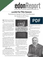 The Chalcedon Report December 2020