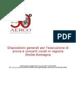 Disposizioni generali per prove e concerti Emilia-Romagna