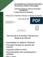 NORMAS DE LA AUTORIDAD TRIBUTARIA  EN MATERIA DE INTERNET