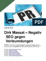 Dirk Massat – Negativ SEO gegen Verleumdungen
