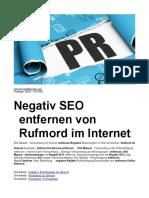 Negativ SEO Entfernen von Rufmord im Internet