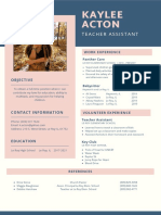 pink and blue flat design physicist science resume