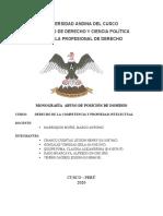 MONOGRAFIA ABUSO DE POSICION DE DOMINIO