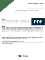 2000. Ivanova. Spécificités de l'étude du dialogue dans la linguistique russe