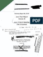 Juno Final Report Volume III Juno II Earth Satellites