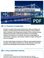 CEM125 Theories of Leadership