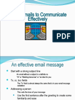 Email Communication