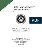 aquino management of the presidency