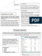 Company Valuation - Humayunn Shahid