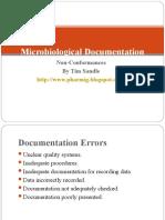 Documentation Non Conformances