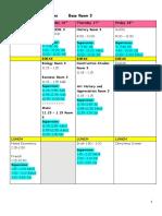 christmas exam timetable 2020  rj