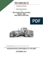 TM 5-3805-293-10   MOTOR GRADER 120M