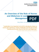 An overview of the role of nurses and midwives in Leadership and management in Europe