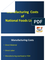 Manufacturing  Costs 2003