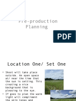 pre production planning 1