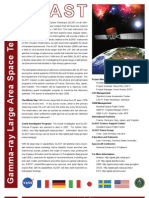 GLAST Gamma-Ray Large Area Space Telescope Fact Sheet