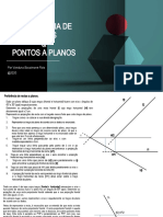Pertinência de rectas e pontos a planos