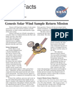 NASA Facts Genesis Solar Wind Sample Return Mission 2004