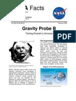 NASA Facts Gravity Probe B Testing Einstein's Universe Feb 2005
