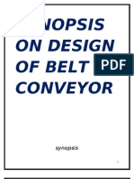 PROJECT REPORT  ON DESIGN  OF BELT CONVEYOR