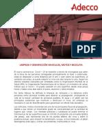 Protocolo de Limpieza y desinfección de vehiculos, motos y bicicletas