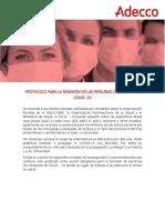 Protocolo remisión de personas con síntomas de COVID 19