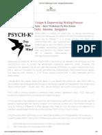PSYCH-K Workshops In India - NewAge Wellness World - Rita Soman