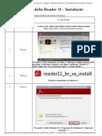 Adobe Reader 11 - Instalação