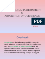 ALLOCATION,APORTIONMENT & ABSORPTION OF OVERHEADS