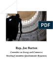 Rep. Joe Barton's Committee on Energy and Commerce