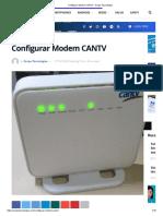 Configurar Modem CANTV - Arepa Tecnologica