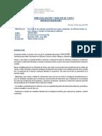 Informe Evaluación y análisis de costo (MP cierros)