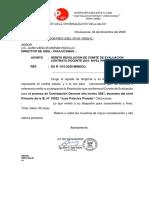 OFICIO-UGEL Contrato Docente Primaria-2020 -