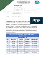 INFORME DE ENTREGA DE EQUIPOS
