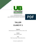 Taller Clase 2 Niveles Act. niveles del lenguaje