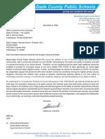 Carvalho's letter to DeSantis' administration