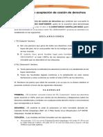 CONVENIO DE CESION DE DERECHOS