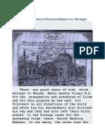 The brief biography of Hadrat Mashooq Rabbani  Warangal