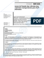 NBR 08469 PB 20 - Roscas de fixacao das valvulas dos recipientes transportaveis para GLP - Dimens