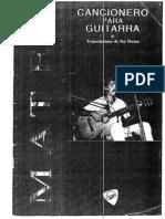 Cancionero para guitarra de Eduardo Mateo