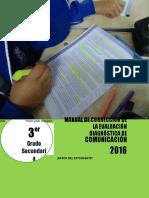 Manual de corrección evaluación diagnóstica  COM - 3°