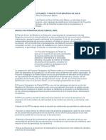 PROYECTO PEDAGÓGICO PLANTEL Y PROYECTO PEDAGÓGICO DE AULA